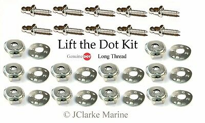 "Lift the dot kit (5/8"" stainless screw stud, socket, plate) boat cover fastener"