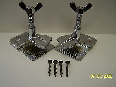New Pair Hinge Clamps For Silk Screen Printing With Mounting Screws