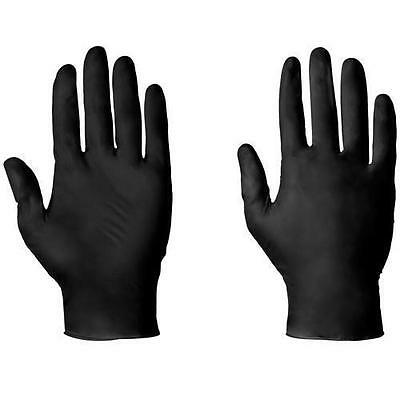 100 Strong Black Latex Free Disposable Gloves Hairdressing Beauty Salon S M L Xl