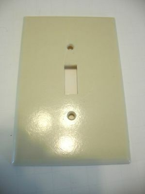 IVORY SINGLE LARGE SWITCH Plate Cover Smooth  Leviton