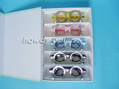 5pcs Trial frame Optical trial lens frame Fixed PD 5 colors