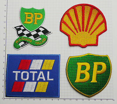Motorsport Sponsor Patches Set - BP, TOTAL, SHELL... - Free Delivery!