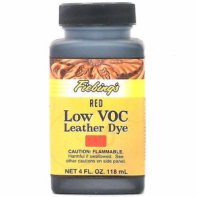 Red 4 oz. (118 mL) Fiebing Low Voc Leather Dye