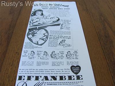 1947 Effanbee DY-DEE doll Ad (Reproduction)