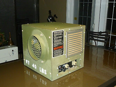 Portable Heater Furnace Gasoline or Diesel 28 Volt dc Military Grade 15000 btu's