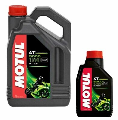 Motul 5000 Motorcycle Oil 10w40 Semi Synthetic 5 litres