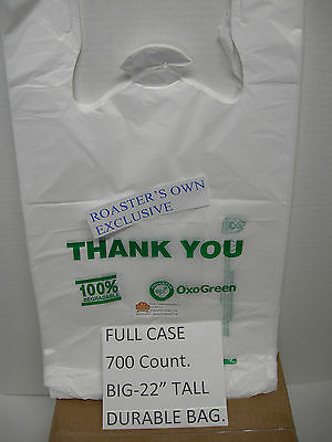 700 Count,100% Biodegradable T-Shirt Bag Recyclable Eco Friendly Take Out