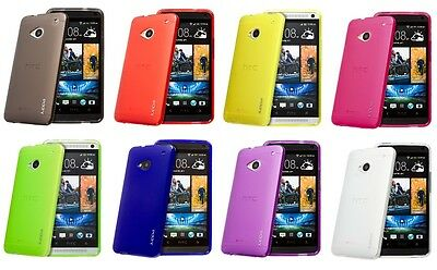 Juppa® Htc One M7 Tpu Gel Rubber Case Cover With Screen Protector & Cloth