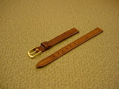 Ladies Speidel NOS 10mm #R237230MBR Brown Ostrich Grain Leather Watch Band W2212