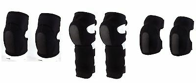 Neoprene Foam Protective Elbow,Knee or Shin Pads - Black Airsoft Paintball Pads