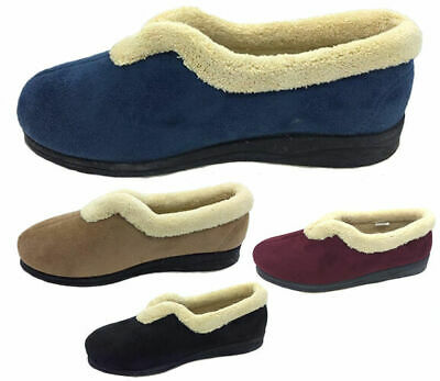 Ladies Slippers Panda Ember Burgundy Black Blue or Camel Slipper Size 6-10 New