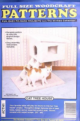 Plan (Only) To Build Wooden Cat Tree House Ladder & Scratch Post Easy Assembly