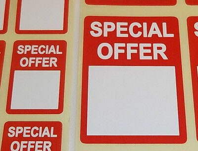 Bright Red SPECIAL OFFER Price Point Stickers Swing Tag Sticky Adhesive Labels