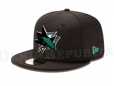 NEW ERA 5950 SAN JOSE SHARKS Team Black Cap National Hockey League Fitted Hat