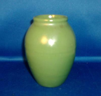 Antique 1910 Arts & Crafts Mission Pottery Green Glazed Vase Matte Early 20th c.