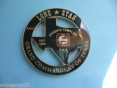 Texas Knight Templar Cut out Car Emblem