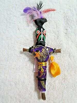 "ONE (1) NEW ORLEANS ""VOODOO DOLL"" with PINS - LOVE LUCK MONEY REVENGE KARMA"
