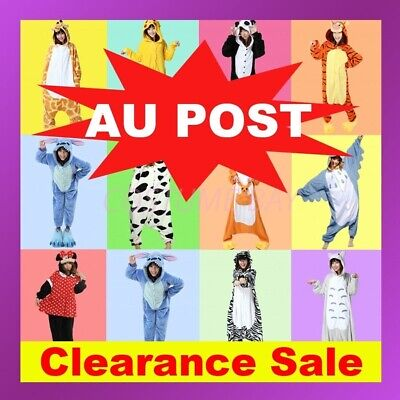AU Adult Fleece Unisex Kigurumi Animal Onesie Pajamas Cosplay Costume Sleepwear