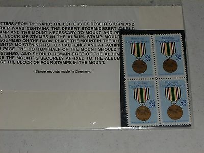 LETTERS FROM THE SANDS DESERT STORM  4 STAMPS  29 CENTS   MINT