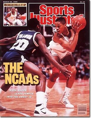 March 28, 1988 Mark Macon, Temple University Owls Sports Illustrated A