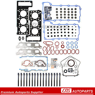 Full Gasket Set+Head Bolts w/ Silicone 01-07 Chrysler Dodge 2.7L DOHC V6 EER