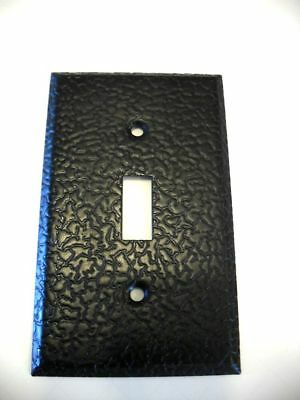 Vtg NOS 50s 60s Hammered look BLACK light Switch Cover Plate METAL ARTS & CRAFTS