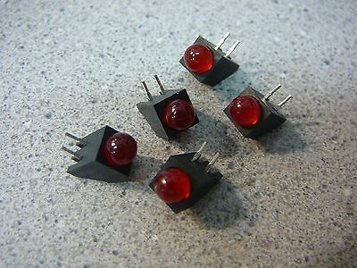 P-TEC  Component LED 5mm Holder Right Angle High Efficiency RED **NEW** 5/PKG