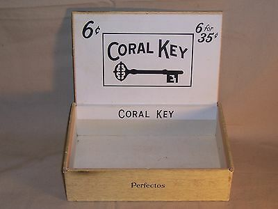 Vintage Coral Key Cigar Box Great Deco / Display