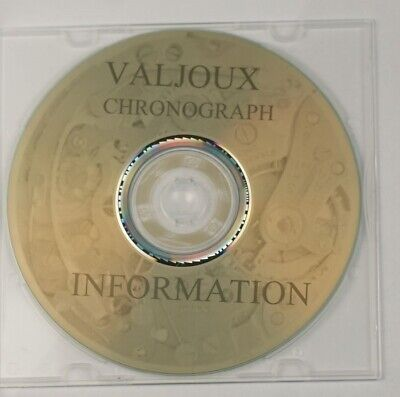 Valjoux chronograph movements Repair service parts technical Information watch