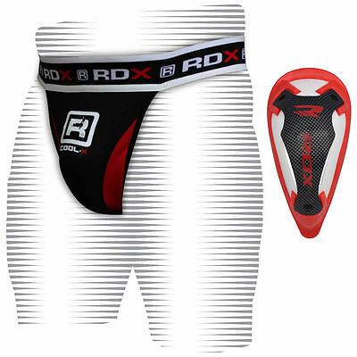 Authentic RDX Jock Strap Supporter & Gel Groin Cup Guard MMA Shorts UFC Boxing C