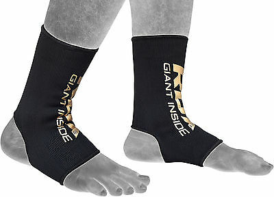 Auth RDX Ankle Foot Support Anklet Pair Pads MMA Brace Guards Sports Boxing CA