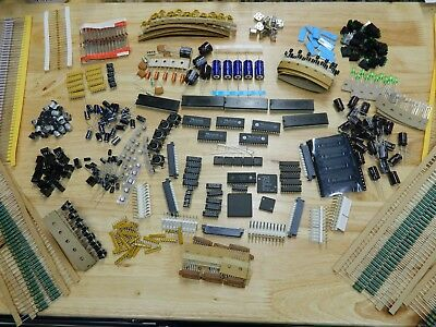 LOT OF 1200 pieces of  ELECTRONIC COMPONENTS, RESISTORS, TRANSISTORS, much more