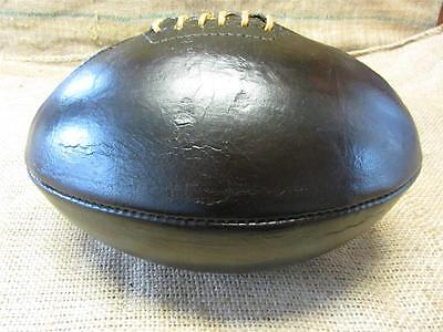 Vintage 1910s Leather Melon Football   Antique Ball Reconditioned RARE! 8048