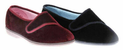 Ladies Slippers Grosby Lilian Navy Or Burgundy Avaliable Size 5-11 New