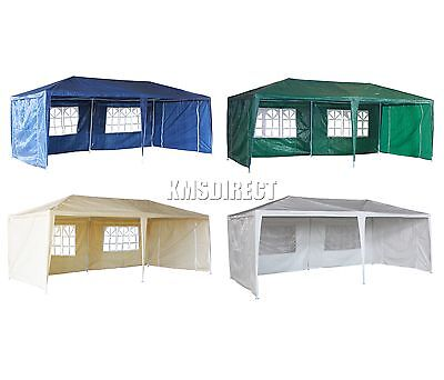 3m x 6m 120g Waterproof Outdoor PE Garden Gazebo Marquee Canopy Party Tent New