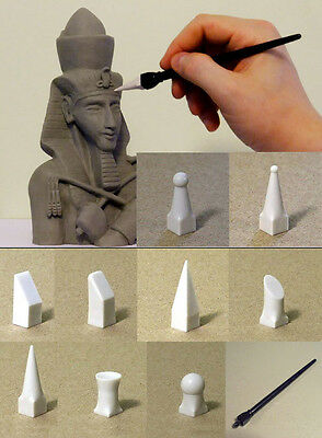 M00421 MOREZMORE SILIFORMER Clay Tool + 9 FIRM Silicone Sculpting Shapers Tips