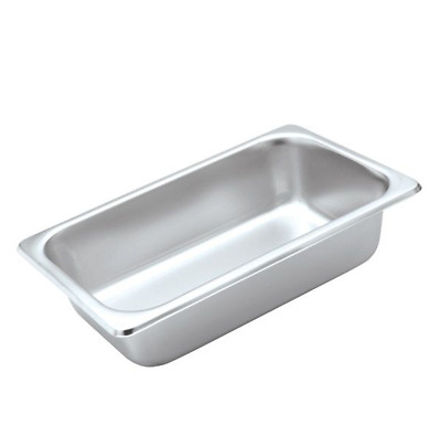 X 6 Bain Marie Trays / Steam Pans / Gastronorm Pans 1/4 65 mm