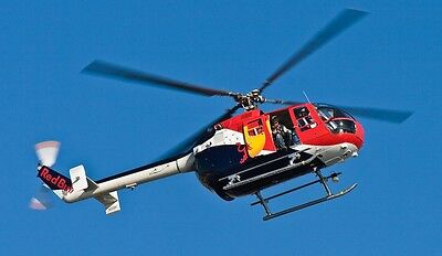 MBB BO-105CB-4 Flying Bull Helicopter Wood Model Replica Large Free Shipping