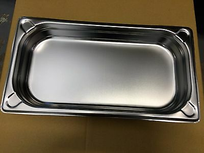 6 x Bain Marie Trays / Steam Pans / Gastronorm Pans 1/3 40 mm Deep