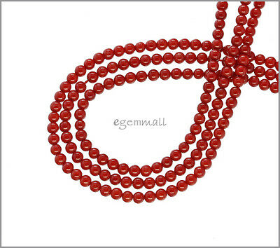 Red Orange Bamboo Coral Round Seed Beads 2.7mm #63080