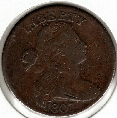 1807 Draped Bust Large Cent - Large Fraction - Sheldon 276 - VF