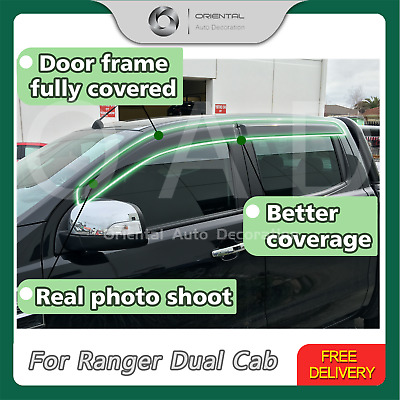 Injection Weathershields Weather Shields Weather shield Ranger Dual Cab 11-19 S