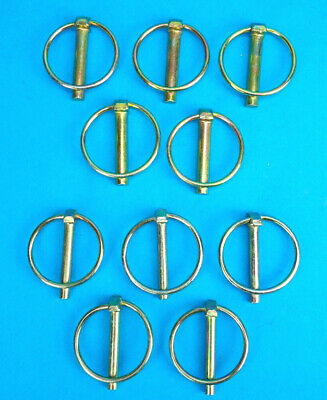 8 x Assorted 6mm & 8mm Lynch Pins - 4 of each size - Trailers Horse Box Lorry