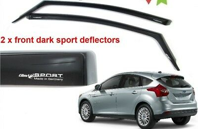 New! GENUINE FORD FOCUS 2011 - 2013 CLIMAIR WIND AIR DEFLECTORS DARK TINT