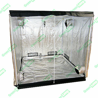 Premium 240 x 240 x 200cm 600D Mylar Indoor Grow Tent Box Hydroponics Dark Room