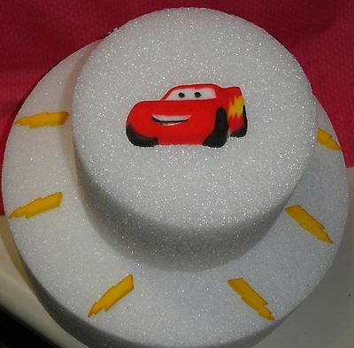 Cars,Lightening McQueen,Edible Cake Decoration,Topper,Molded Sugar,Red, DecoPac