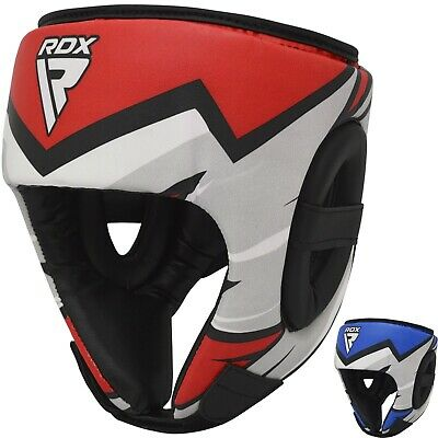 RDX Leather MMA Gloves Gel Tech Grappling Fight Boxing Punch Bag R