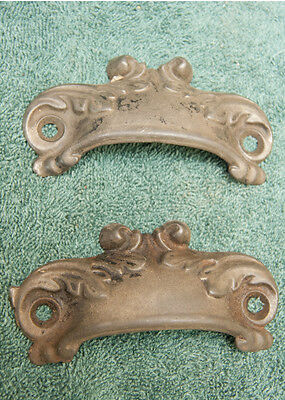 Pair Kitchen Cupboard Drawer Pulls Decorative Hardware #1863-13