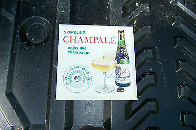 """VINTAGE SPARKLING CHAMPALE THERMOMETER 8 3/8"""" X 8 3/8"""""""