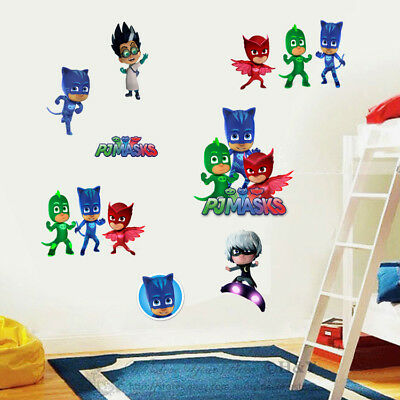 PJ Masks Cartoon Removable Wall Stickers Vinyl Decal Kids Boy Nursery Decor Gift